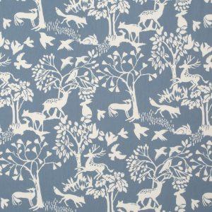 Dress Fabric grey woodland