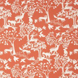 Dress Fabric red woodland