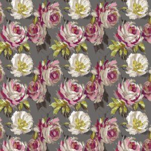 SERAPHINE LINEN VISCOSE CHARCOAL cotton dress fabric
