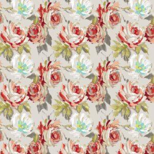 SERAPHINE LINEN VISCOSE RUSSET cotton dress fabric