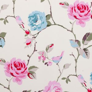Aqua Floral Dress Fabric