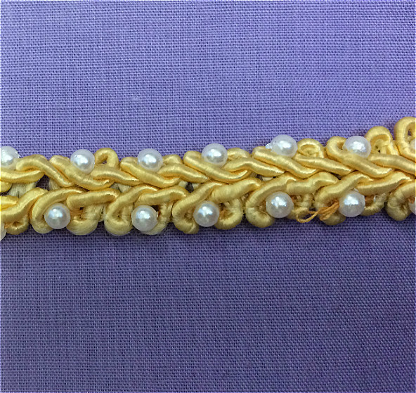 Pearl Braid Yellow Trim By The Metre
