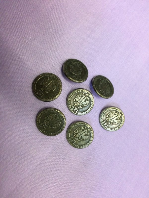 military coin cover buttons
