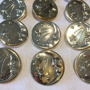 silver moon and stars cover buttons