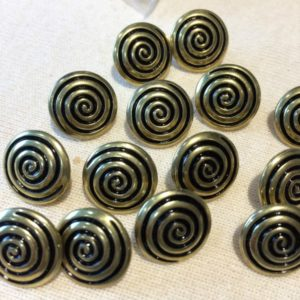 black and gold swirl cover buttons