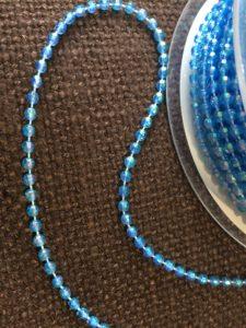 blue beaded trim
