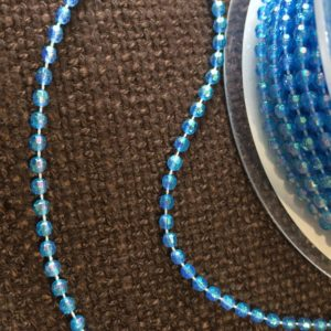 blue beaded trim
