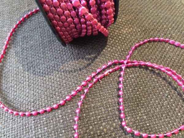 pink beaded trim