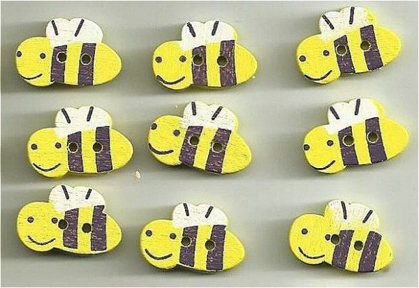 bumble bee cover buttons