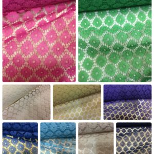 multiple colours net fabric