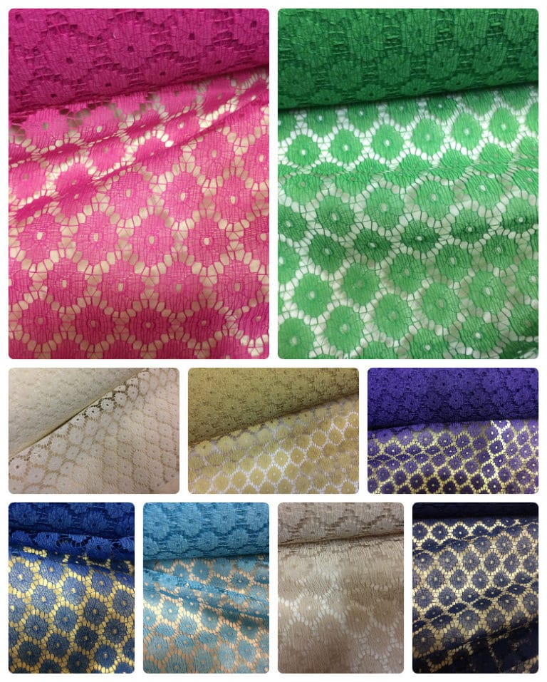 multiple colours net fabric