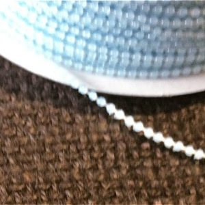 sky blue beaded trim