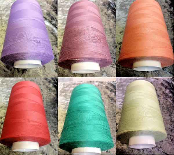 Core Spun 5000 yard Sabre Super Strong Sewing Threads 10 Reels For £39.99