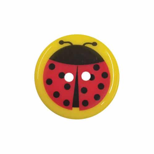 Fine Style Two Hole Lady Bird Buttons Wholesale Packs - 25.4mm