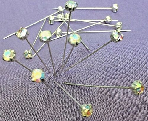 Crystal Headed Dressmaking Craft Headed Pins 44 mm Long