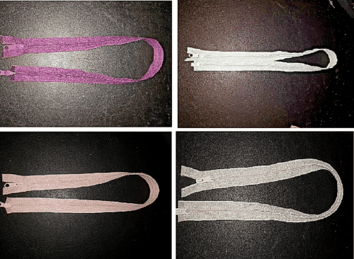 Double Ended Nylon Zips Assorted Colours & Sizes Type 5