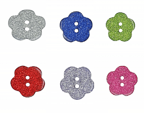 Sparkly Daisy Buttons Fine Style Buttons Choice Of Colours