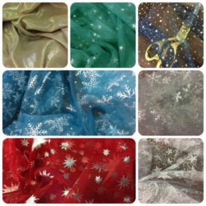 Sparkly Organza Net Dress Fabrics
