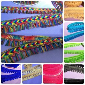 Decorative Dress Furnishing Tassel Trimming Assorted Colours