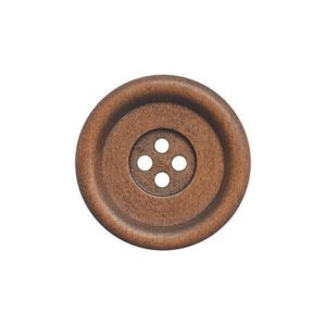 Fine Style Four Hole Wooden Buttons Wholesale Packs - 34mm