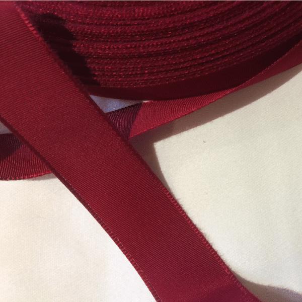 dark red ribbon