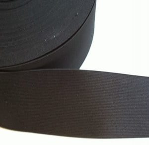 "Black 3"" Wide Elastic Roll 25 Metres Wholesale Price"