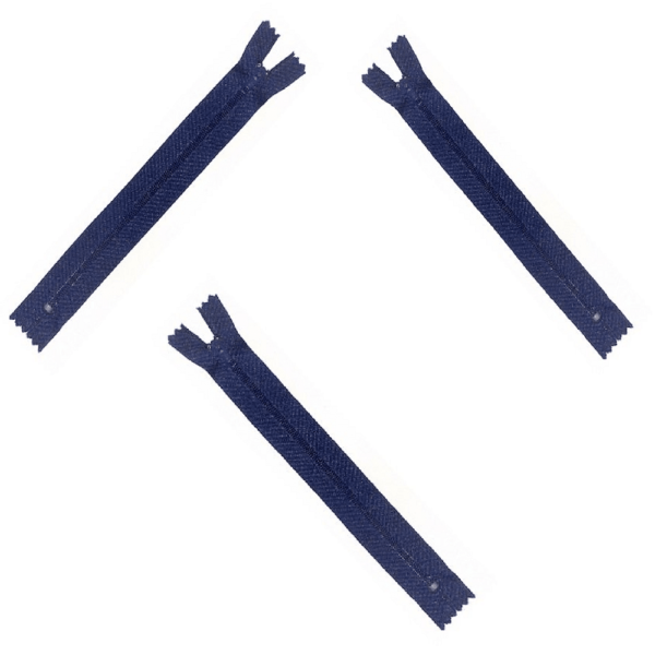 Closed End Navy 12 cm Zips Quantity 100 For £3.75