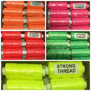 flouresent colours sewing machine thread