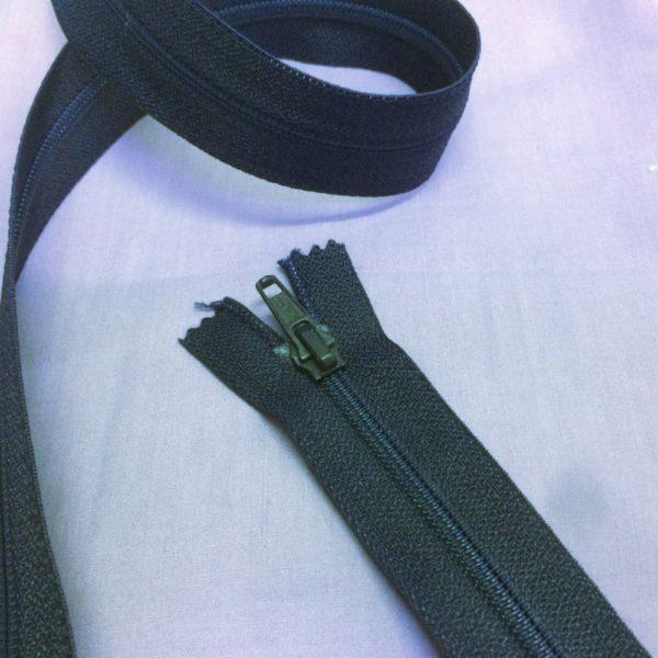 Open End Navy 115 cm Zips