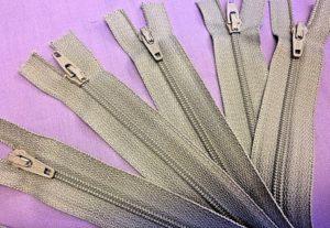beige open end zips