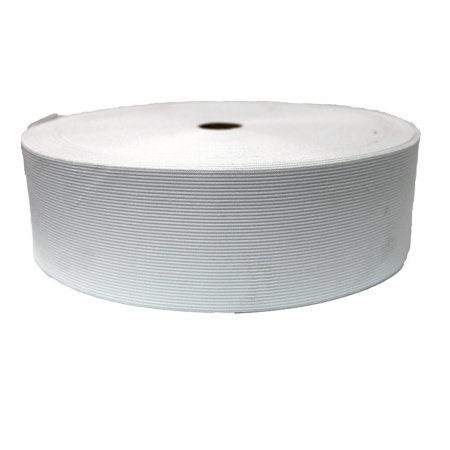 """White 3"""" Wide Elastic Roll 25 Metres Wholesale Price"""