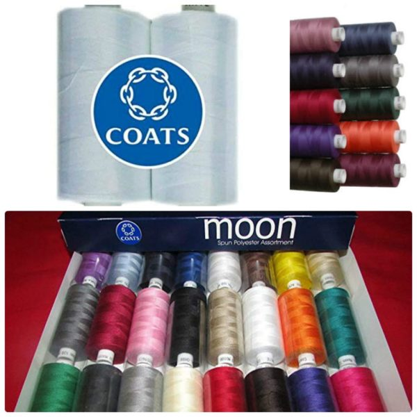 multi colours sewing machine thread