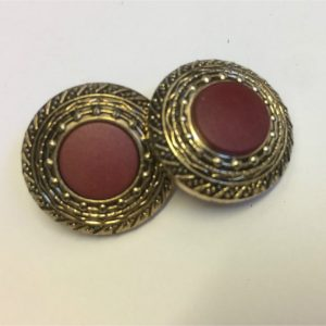 gold and wine cover buttons