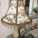 flower lamp with tassel fringe