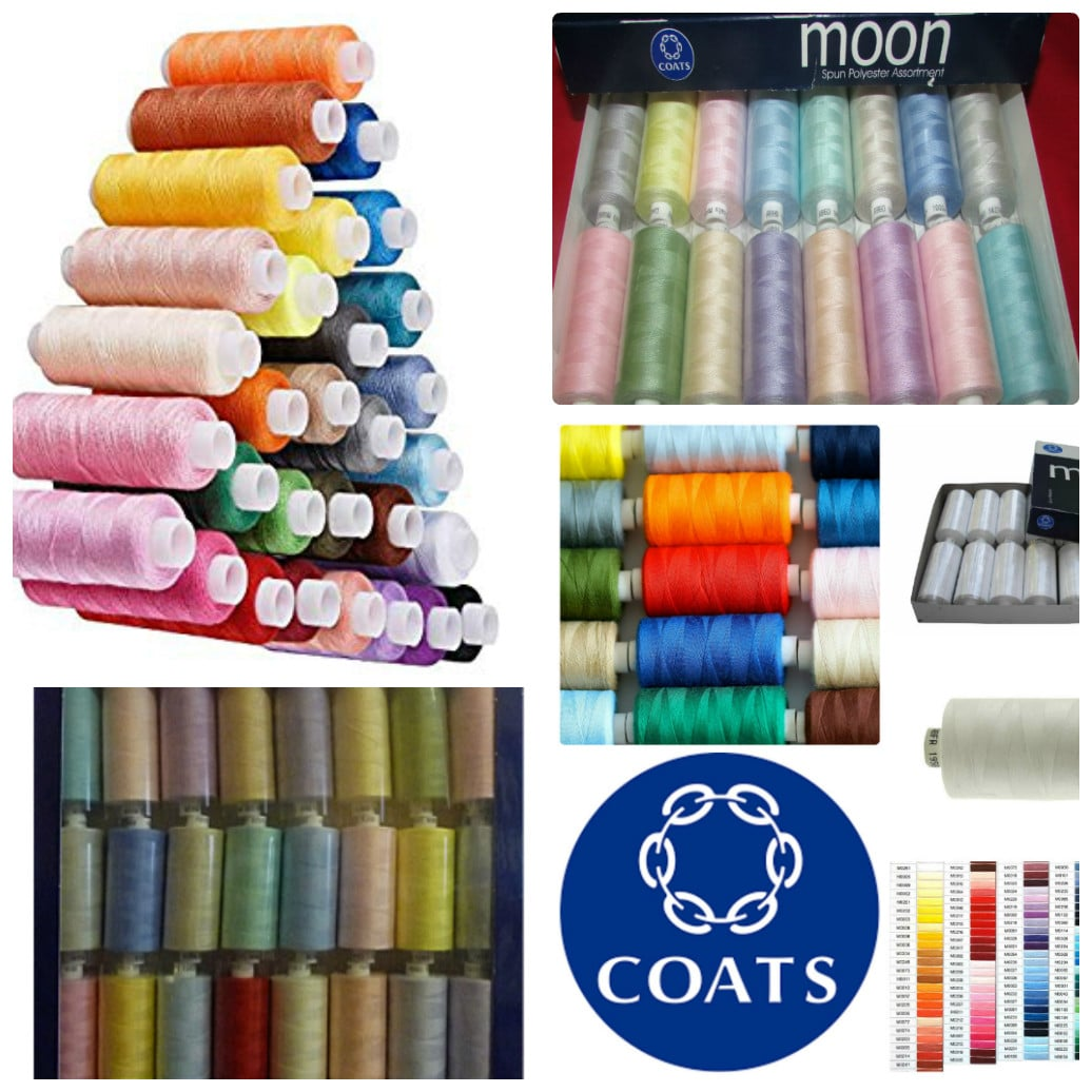 120s 30 x 500 yard SPOOLS POLYESTER SEWING THREAD ASSORTED // MIXED COLOURS
