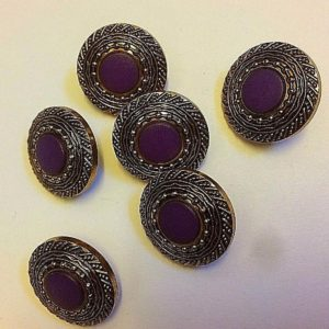 purple and silver edge cover cover buttons