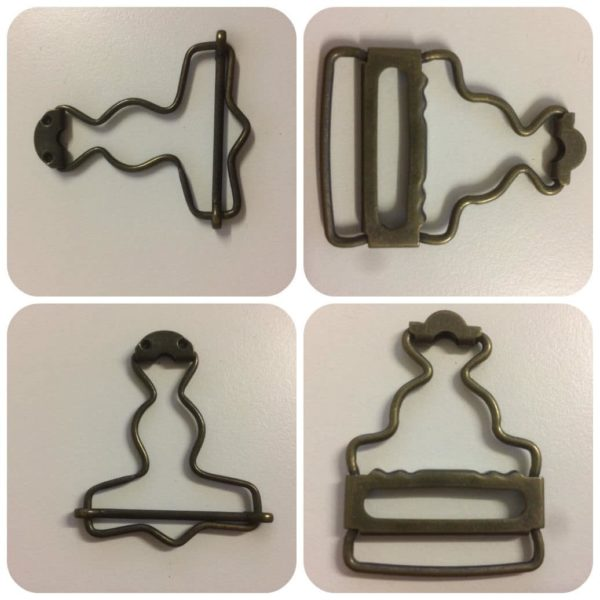 Dungaree Clips Antique Finish Two Designs