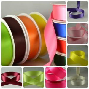reels of multi colour ribbon