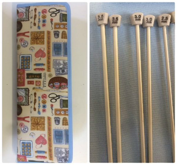 3.5 mm and 3.0 mm Knitting Needles and Knitting Needle Case