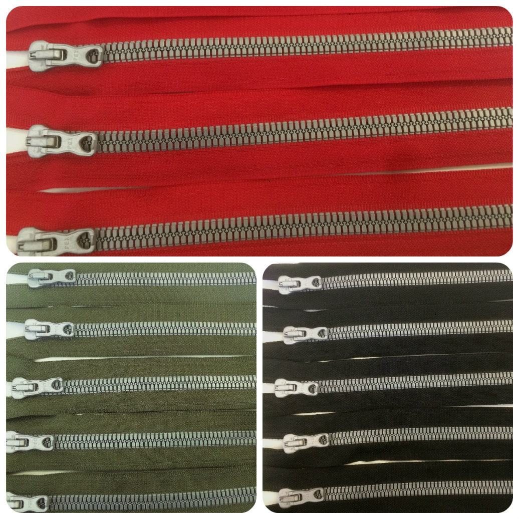 chunky open ended zips multiple colours