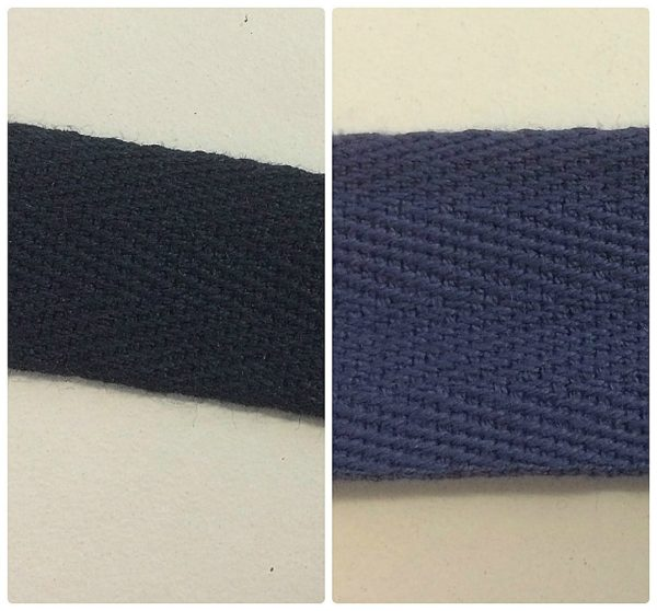 Navy Blue Cotton Chevron Tape 50 Metres Two Widths
