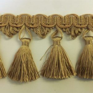 Valletta 90mm Long Luxury Gold Tassel Fringe