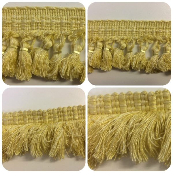Light Gold Tassel Fringe & Cut Fringe