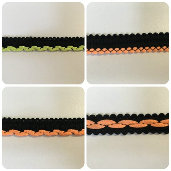 Black & Flo Orange, Flo Green Insertion Cord & Braid