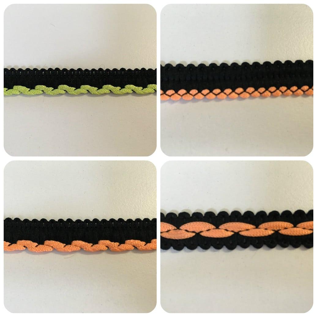 Black & Flo Orange, Flo Green Insertion Cord & Braid