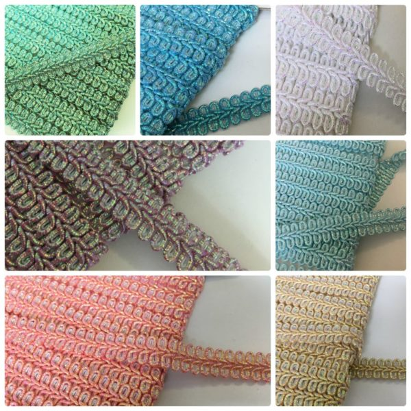 Metallic Furnishing Gimp Braid All Colours