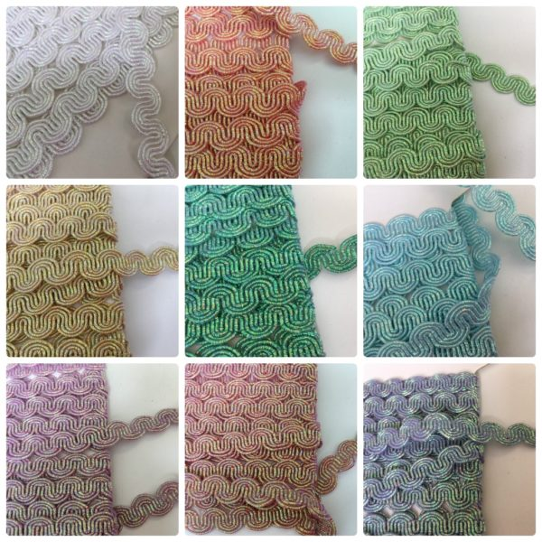 Metallic Scrolled Patterned Braid All Colours