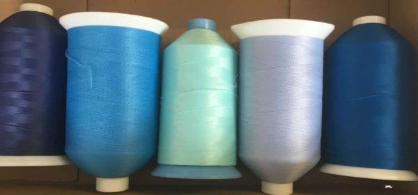 5 Blue Reels Bulk 80s Nylon Wooly Overlocking Sewing Thread 7000m