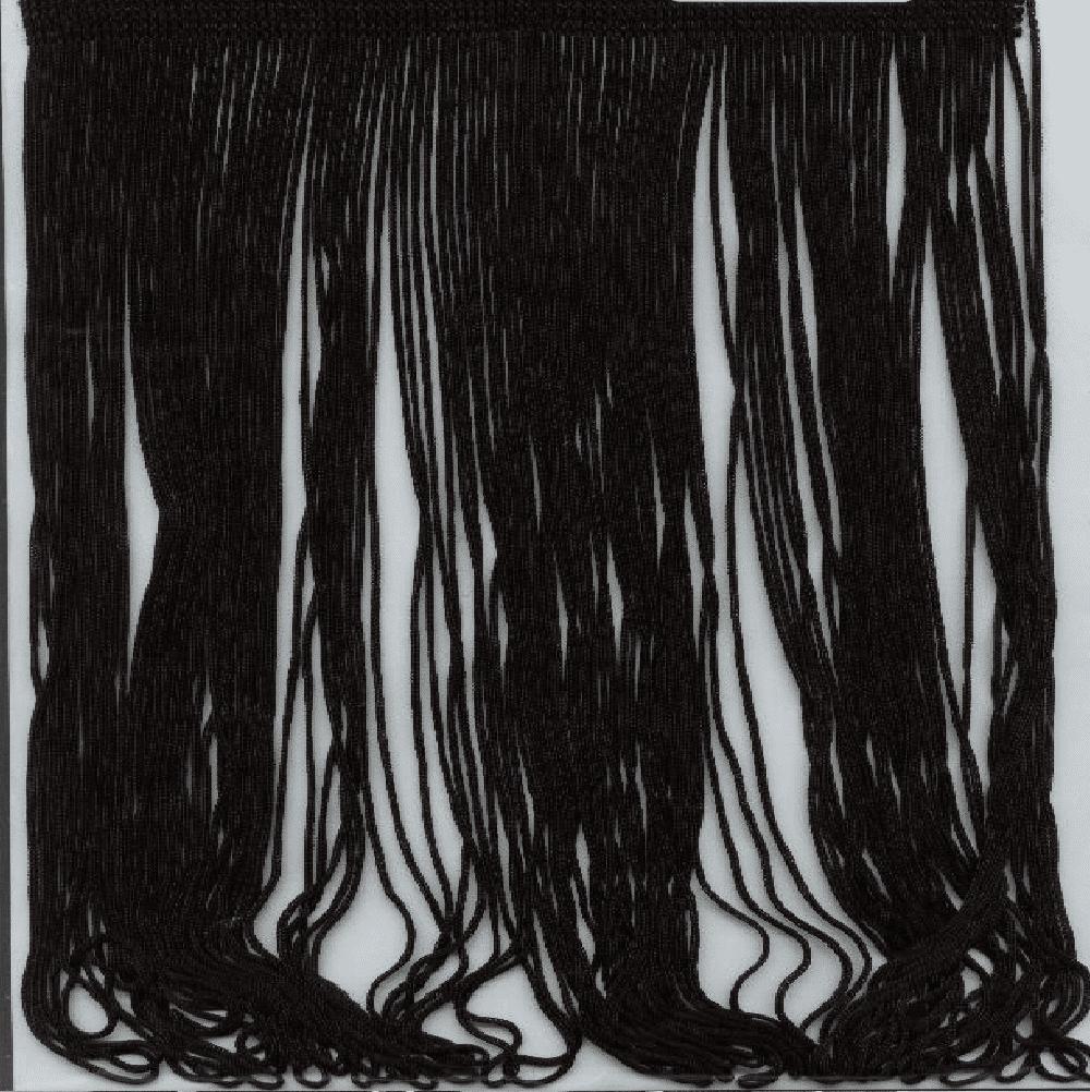 black fringe trim - 12 inch
