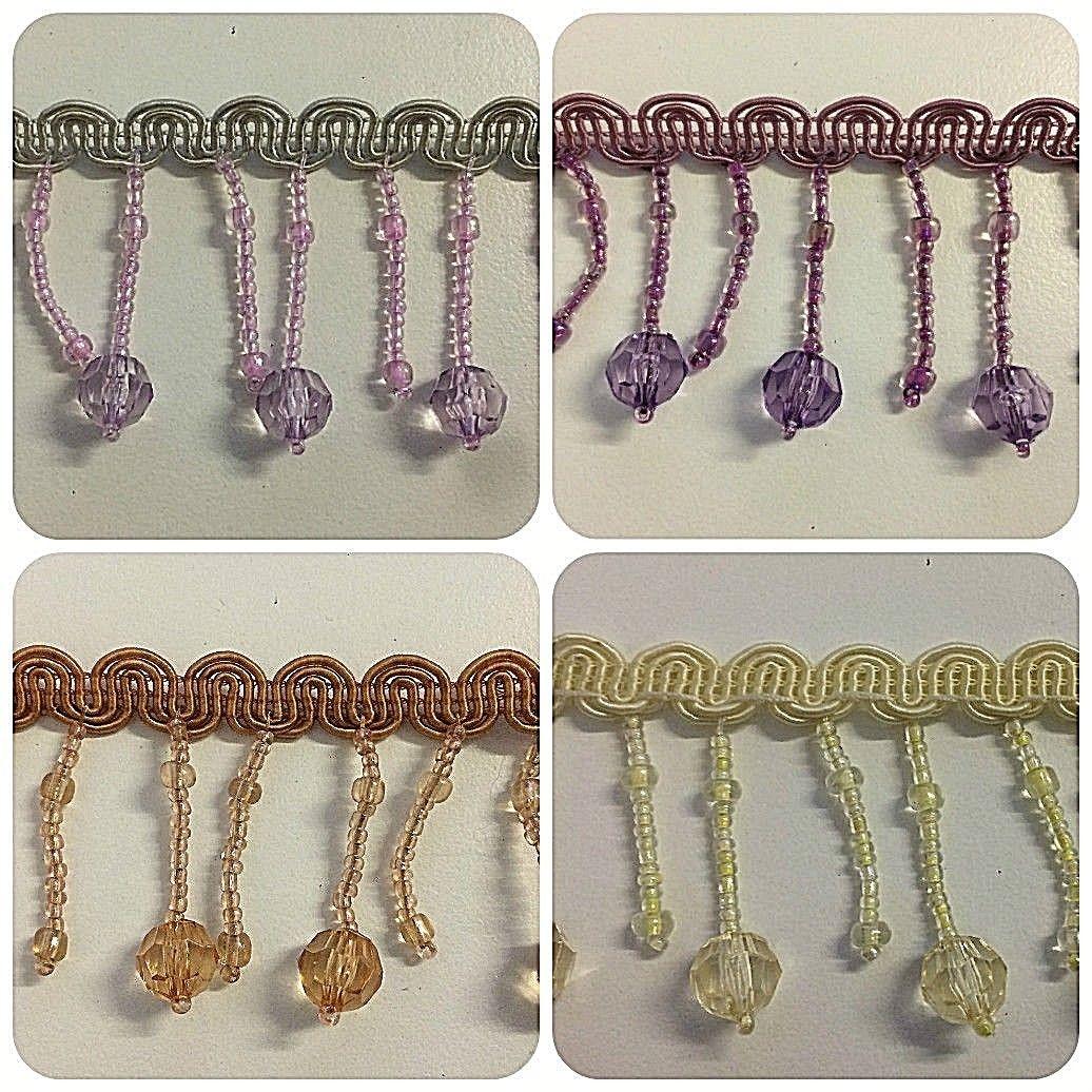 multi colour braid trim, clear crystals